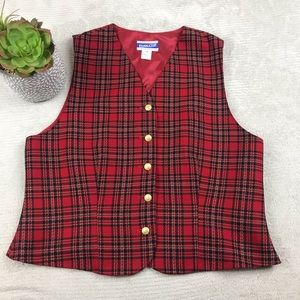 🌺 VTG Pendleton Knockabouts Tartan Plaid Vest